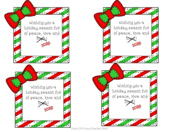 "Holiday ""Soap"" gift tags"