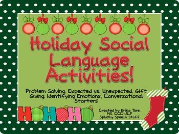 Holiday Social Language Activities!