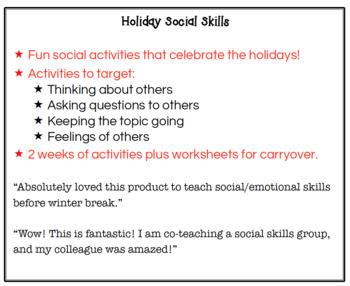 Holiday Social Skills