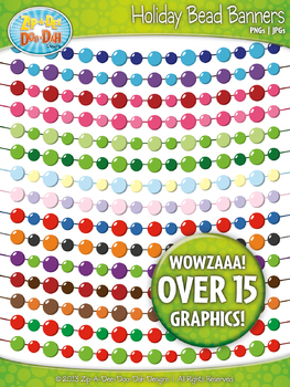 Holiday Solid Bead Bunting Pendants Banners  — 16 Colorful