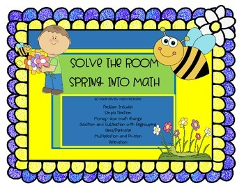 Spring Solve The Room and Task Cards