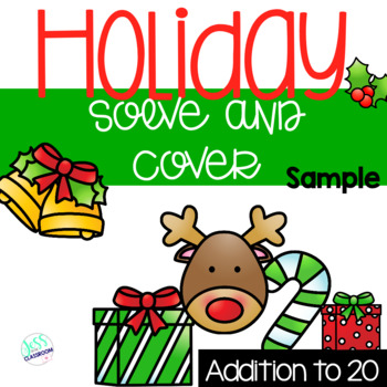 Holiday Solve and Cover- Addition *Freebie*