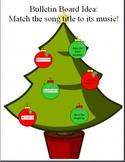 Holiday Song Notation Interactive Bulletin Board