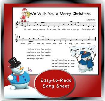 Holiday Song for Recorder: We Wish You a Merry Christmas