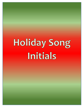 Holiday Songs Initials