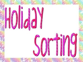 Holiday Sorting Book!!