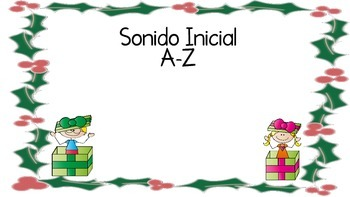 Holiday Spanish Initial Sound