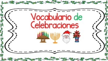 Holiday Spanish Vocabulary