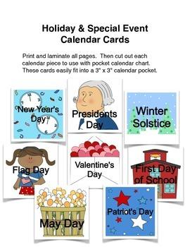 Holiday & Special Event Calendar Cards