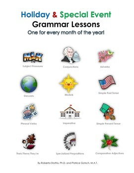 Holiday & Special Event Grammar Lessons: One for Every Month of the Year!