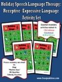 Holiday Speech Language Therapy: Receptive-Expressive  Bin