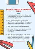 Holiday Speech Therapy Tips
