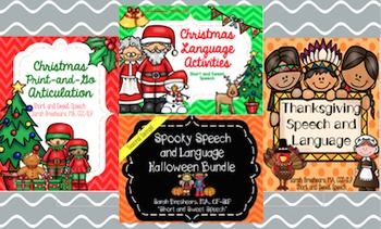 holiday speech language halloween thanksgiving christmas - Halloween Thanksgiving Christmas