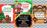 Holiday Speech & Language: Halloween, Thanksgiving, & Christmas