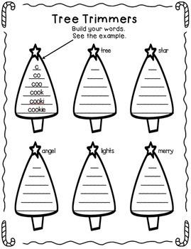 Holiday Spelling Bundle - Spelling Worksheets