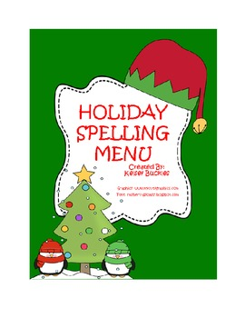 Holiday Spelling Menu