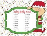 Holiday Spelling Unit