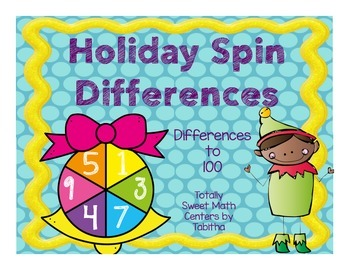 Holiday Spin a Difference- Differences to 100 Spinner Center!