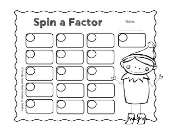 Holiday Spin a Factor-A Factor Spinner Center!