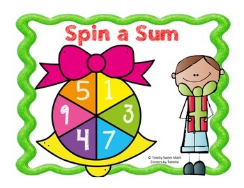 Holiday Spin a Sum- Addition to 100 Spinner Center!