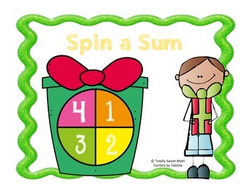 Holiday Spin a Sum- Addition to 20 Spinner Center!