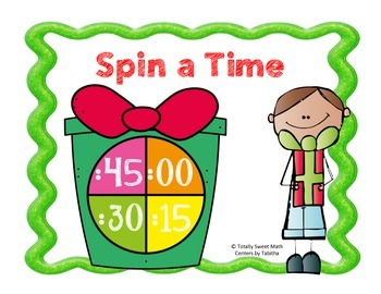 Holiday  Spin a Time- Time to the Quarter Hour Spinner Center!