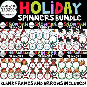 Holiday Spinners Clip Art Bundle {Christmas Clip Art}
