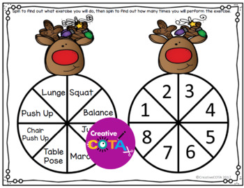 Holiday Spinners Gross Motor Brain Break