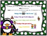 Holiday Spirit Week Flyer