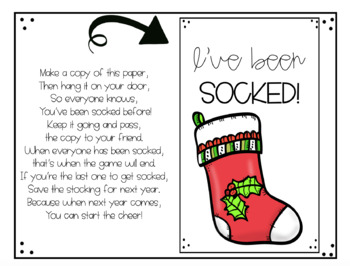 Holiday Staff Morale Booster - You've Been Socked!
