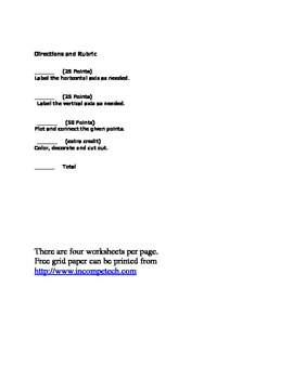 Holiday Star (5 point) Coordinate Graph Worksheet