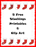 Holiday Stocking Printable Graphics & Clip Art