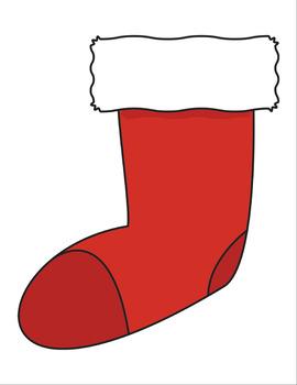 Holiday Stocking Printable Graphics & Clip Art