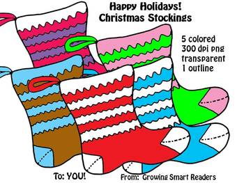 Christmas Holiday Stockings Clip Art