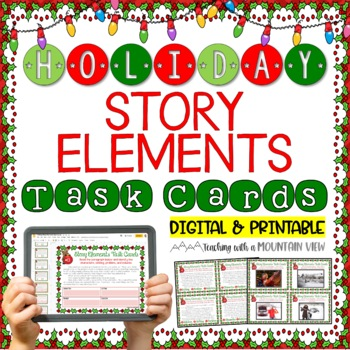 Holiday Story Elements Task Cards {Christmas & Winter}