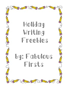 Holiday Story Starters Freebie