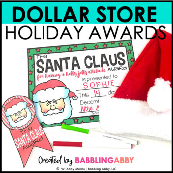 Holiday Student Awards and Behavior Management Incentives