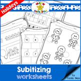 Subitizing Worksheets - Winter Holidays