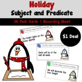 Holiday Subject and Predicate Task Cards