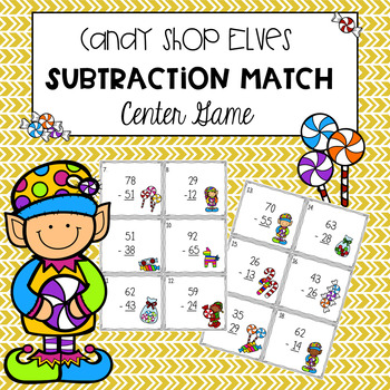 Holiday Subtraction Center Game
