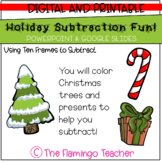 Holiday Subtraction Fun! (Using Ten Frames to Subtract: First Grade Go Math 4.4)