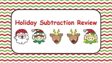 Holiday Subtraction Review Regrouping Digital Google Classroom