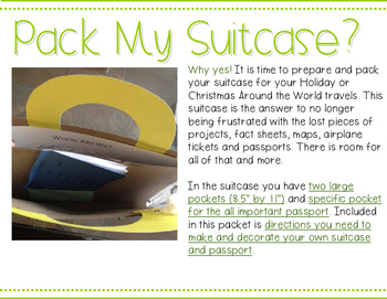 Holiday  Suitcase- Essentials for Holiday Around the World