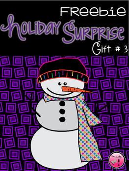 Holiday Surprise Freebie  Gift #3