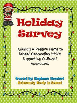 Holiday Survey for Parents & Families: Respecting Diversity