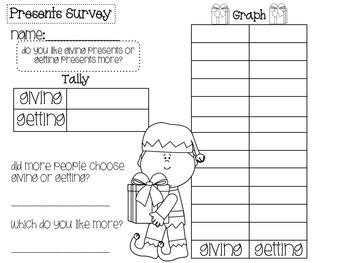 Holiday Survey and Graphing Packet