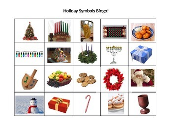 Holiday Symbol Bingo!