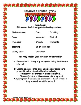 Holiday Symbol Research Report