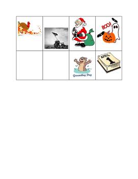 Holiday Symbols Matching