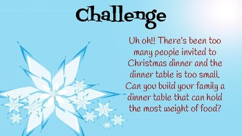 Holiday Table STEM Challenge